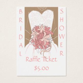 Bilhetes do Raffle do chá de panela Cartão De Visitas