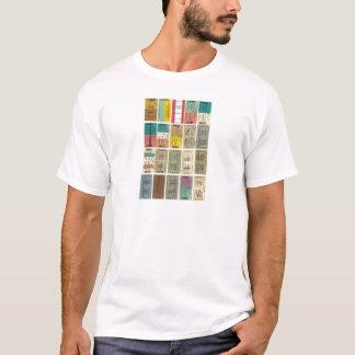 Bilhetes do transporte do vintage camiseta