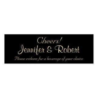 Bilhetes finos da bebida do casamento dos modelo cartoes de visita