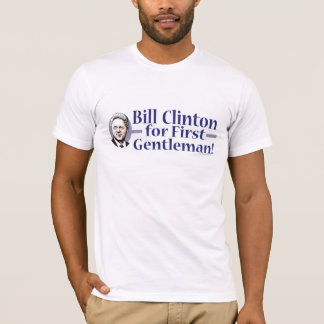 Bill Clinton para a primeira camisa do cavalheiro
