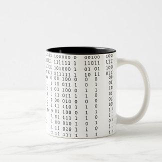 Binário de conexão em cascata caneca de café em dois tons