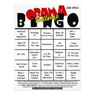 Bingo #001 & #002 de Obama Bullcrap Panfleto Personalizado
