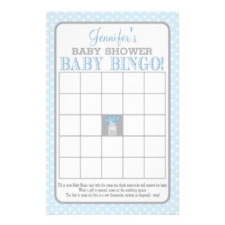 Bingo (azul) do bebê do frasco de pedreiro flyer 13.97 x 21.59cm