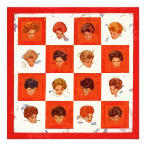 Bingo da cor do cabelo convite personalizados