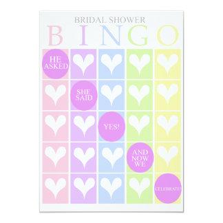 Bingo do chá de panela convite 12.7 x 17.78cm