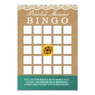Bingo do chá de panela de serapilheira dos convite 8.89 x 12.7cm