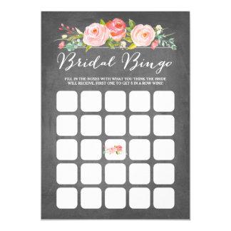 Bingo do chá de panela do jardim de rosas convite 12.7 x 17.78cm