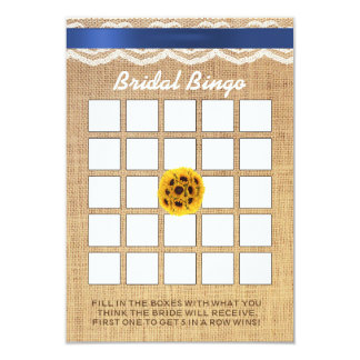Bingo do chá de panela do laço & da serapilheira convite 8.89 x 12.7cm