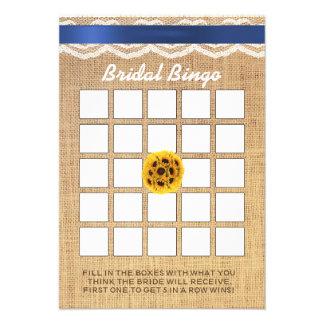 Bingo do chá de panela do laço & da serapilheira d convites personalizado