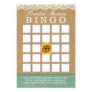 Bingo elegante do chá de panela de serapilheira da convites personalizado