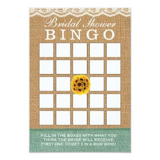 Bingo elegante do chá de panela de serapilheira da convite 8.89 x 12.7cm