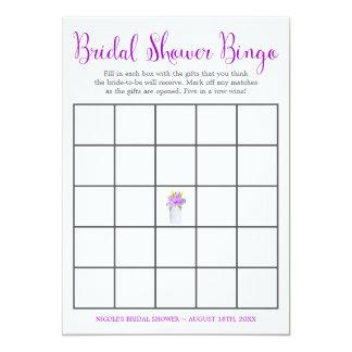 Bingo floral do chá de panela do frasco de convite 12.7 x 17.78cm