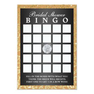 Bingo moderno do impressão nupcial do leopardo do convite 8.89 x 12.7cm