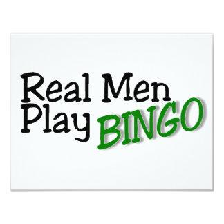 Bingo real do jogo dos homens convite