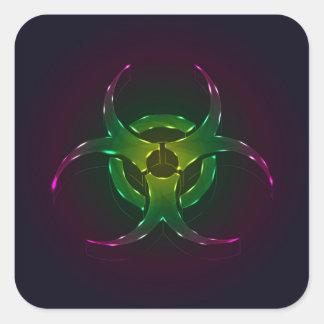 Biohazard Adesivo Quadrado
