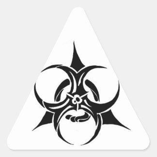 Biohazard Adesivo Triangular