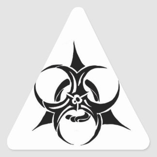 Biohazard Adesivo Em Forma De Triângulo