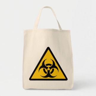 Biohazard - bichrome yellow/black bolsa tote