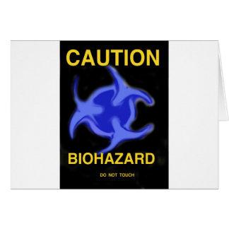 Biohazard Cartão Comemorativo