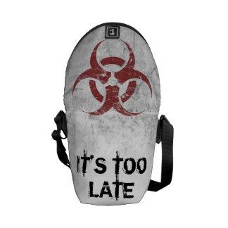 Biohazard customizável bolsas mensageiro