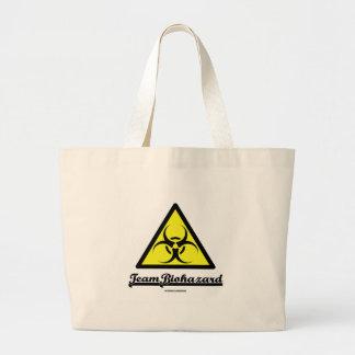 Biohazard da equipe (sinal de aviso do Biohazard) Sacola Tote Jumbo