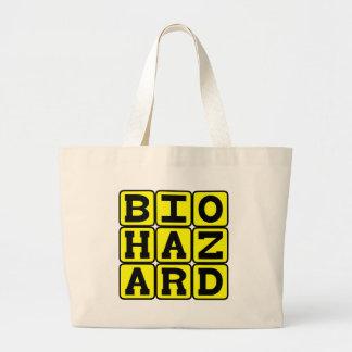 Biohazard, material perigoso bolsas de lona