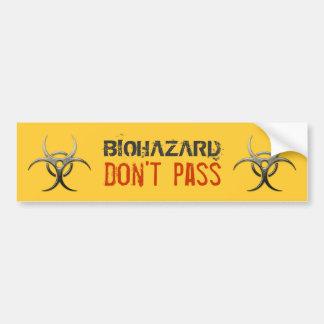 Biohazard - não passe - autocolante no vidro trase adesivos