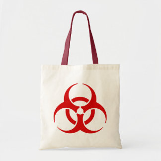 biohazard! perigo de advertência bolsa tote