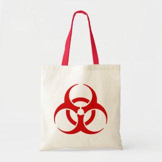 biohazard! perigo de advertência sacola tote budget