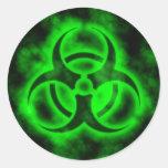 Biohazard verde adesivo