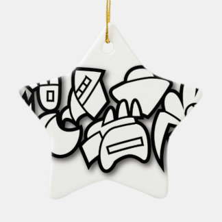 Biomorph Ornamento De Cerâmica