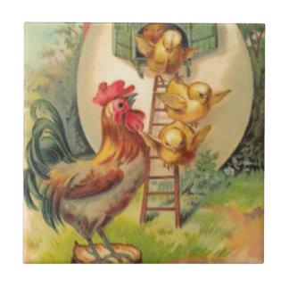 Birdhouse do ovo do pintinho do galo da páscoa