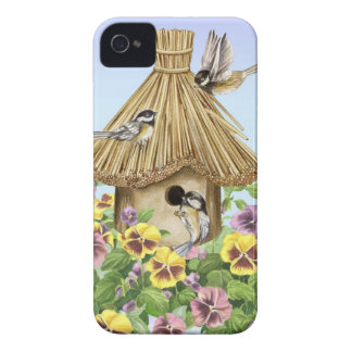 Birdhouse dos Chickadees Capa Para iPhone
