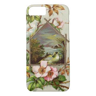 Birdhouse floral do vintage capa iPhone 8/ 7