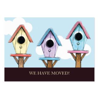 Birdhouses | nós movemos o mini anúncio cartão de visita grande