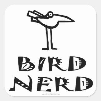 Birding, Birdwatching, ornitologia Adesivo Quadrado