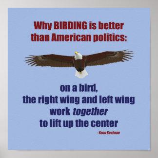 Birding e poster da política
