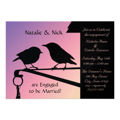 Birds of a Feather/noivado Convite Personalizados