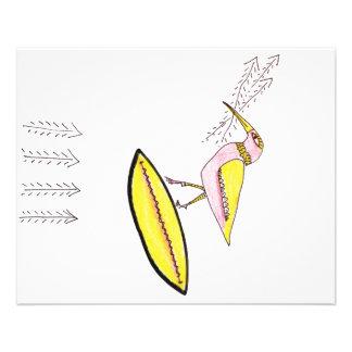 Birdy com setas do galho flyer 11.43 x 14.22cm