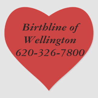 Birthline de etiquetas de Wellington