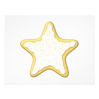 Biscoito congelado da estrela Amarelo e branco Panfleto Personalizado