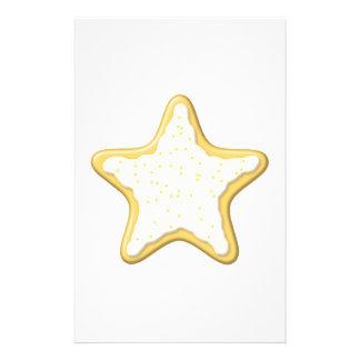 Biscoito congelado da estrela. Amarelo e branco Modelo De Panfleto
