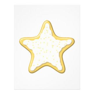 Biscoito congelado da estrela Amarelo e branco Modelo De Panfletos
