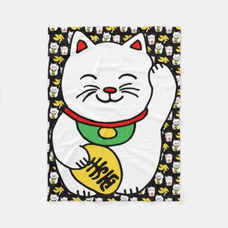 Biscoito de boa fortuna afortunado japonês do gato cobertor de velo