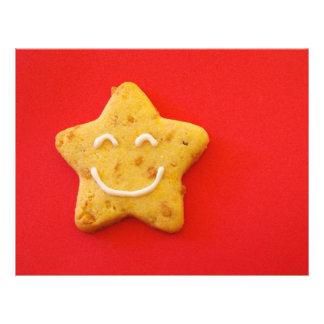 Biscoito de sorriso feliz modelo de panfletos