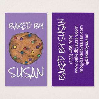 Biscoito dos pedaços de chocolate do arco-íris cartão de visitas