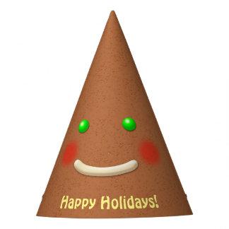 Biscoito principal aguçado de sorriso do chapéu de festa