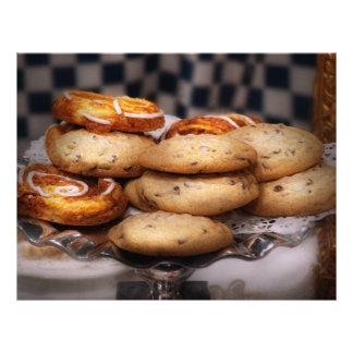 - Biscoitos - biscoitos doces e dinamarquês Panfleto Personalizado