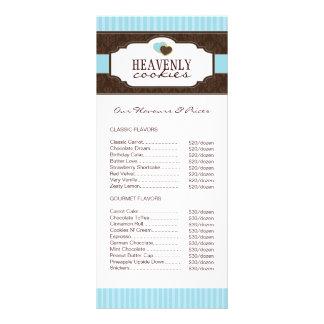 Biscoitos/cartão cremalheira da padaria 10.16 x 22.86cm panfleto