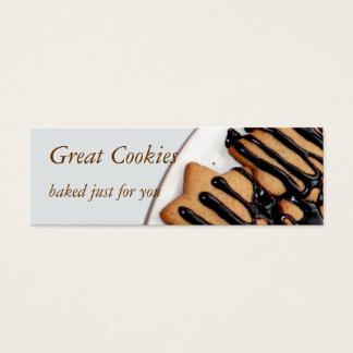 biscoitos cartão de visitas mini